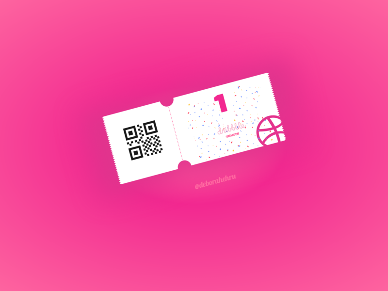 Dribbble Invite design dribble ticket free invite freebie invite