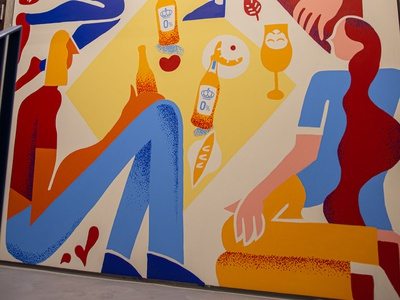 Żywiec mural clean painting illustration alcohol picnic streetart paint mural relax beer
