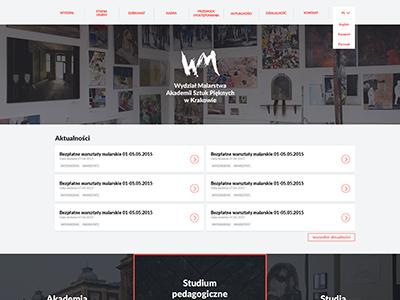 Academy of Fine Arts in Kraków - Painting Department clean website graphic design ui ux krakow painting