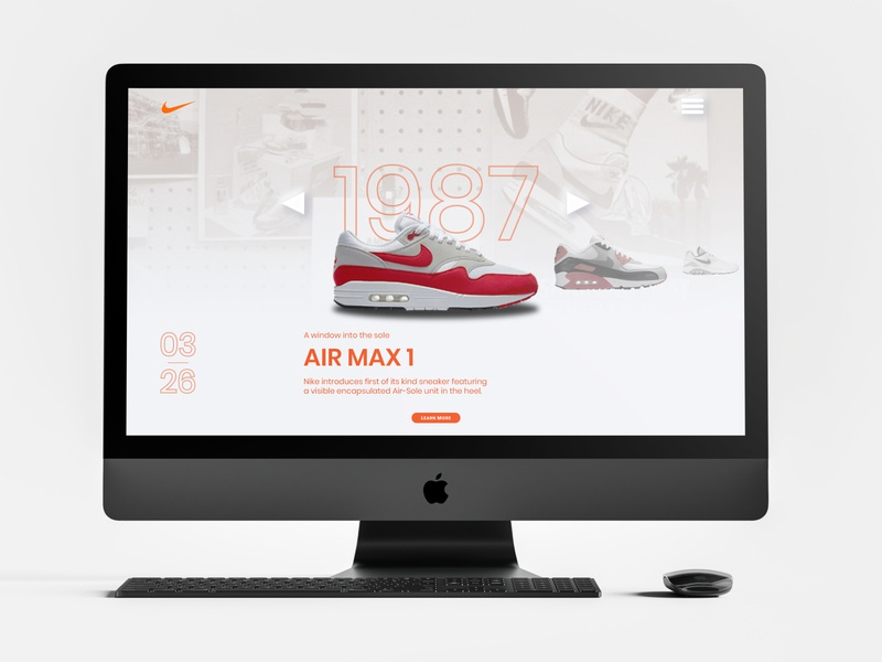 Nike Air Max Day UI web design air max airmaxday nike branding web ux ui art minimalist digital art design graphic design