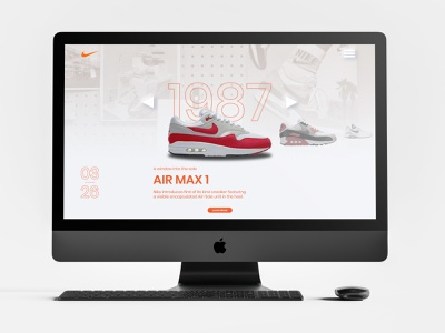Nike Air Max Day UI web design air max airmaxday nike branding web ux ui art minimalist digital art design graphic design