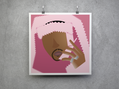 Pink Cam'ron Digital Art Poster