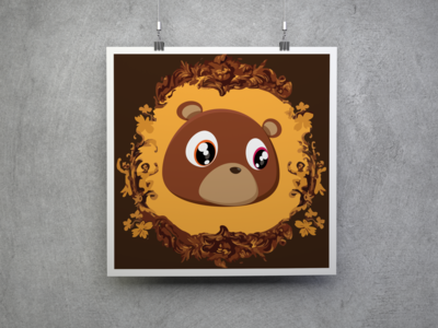 Kanye West College Dropout Digital Art Poster