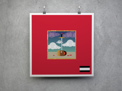 My Beautiful Dark Twisted Fantasy Kanye West Digital Art Poster