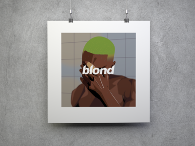 Blond Frank Ocean Digital Art Poster