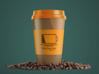 Recharge Cafe Branding Design