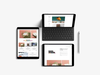 RASA Design's Brand New Website - UI Design minimal website web ux app ui logo branding design graphic design