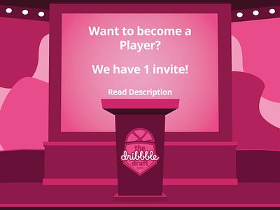 Dribbble Invite by RASA Design digital art draft player vector design graphic design invites invite dribbble invites dribbble invite dribbble
