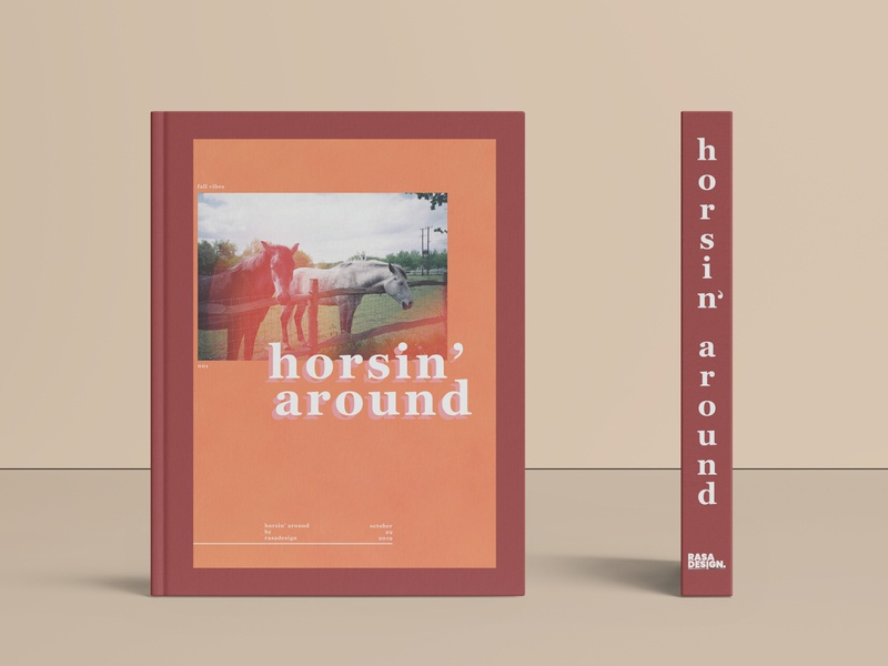 Horsin' Around Book Design fall colors vibes fall horse book design book cover book art digital art typography logo branding design graphic design