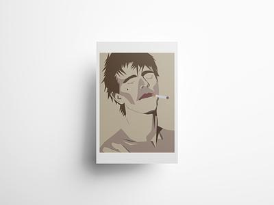 David Bowie Smoking Poster Design bowie david bowie poster design music art minimalist poster digital art illustration vector design graphic design