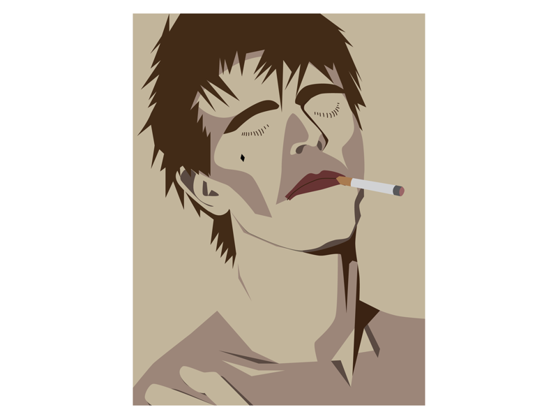David Bowie Smoking Poster Design bowie david bowie poster design music minimalist art poster digital art illustration vector design graphic design