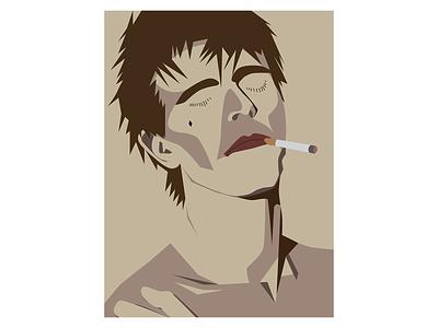 David Bowie Smoking Poster Design bowie david bowie poster design music minimalist art poster digital art illustration vector design graphic design