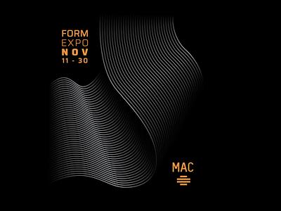 Musée d'Art Contemporain de Montréal Poster Design poster design form november mac museum art minimalist typography poster digital art logo illustration branding vector design graphic design