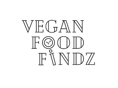 Vegan Food Findz New Branding food serif black and white new brand instagram vegan icon typography minimalist logo illustration branding vector design graphic design