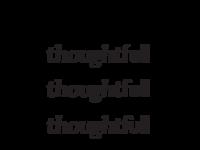 ThoughtFull wordmark concept - Take 2