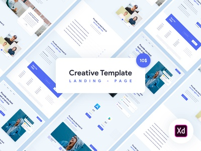 Creative template for Adobe Xd