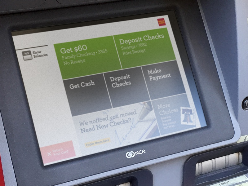 ATM Interface for Wells Fargo by Graham Hicks on Dribbble