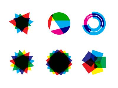 Over shapes cmyk overlay overlap color shape multiply illustrator