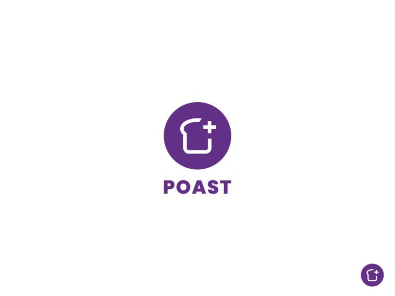 Poast Logo app design modern logomark branding mark logo design brand marketplace logo auction