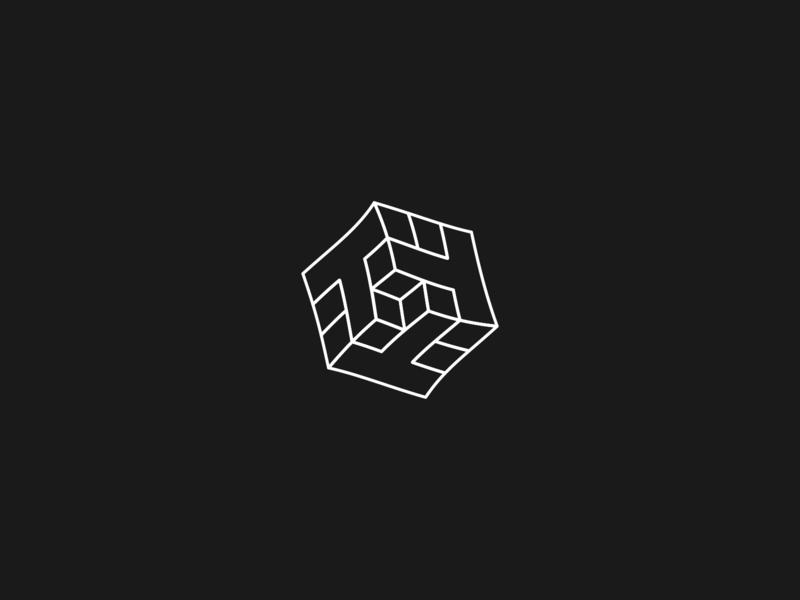 Isometric T's cube vector design isometric design isometric letter