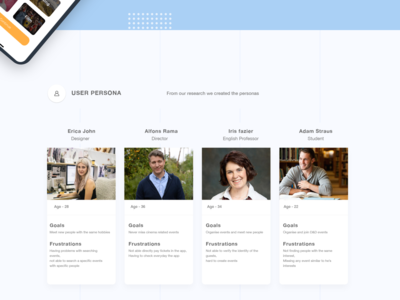 Flock User persona ar product profile users ux research user ui personas persona