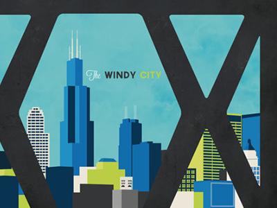 Windy City Bridge Poster