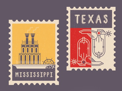 Fiesta On State Stamps