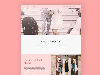 3Larks Bridal Boutique Website