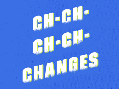 Bowie Textured Type sans serif david bowie music bold blue typography texture type