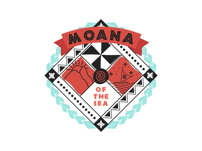 Moana Family Crest tribal island polynesian heraldy family crest crest badge illustration moana disney
