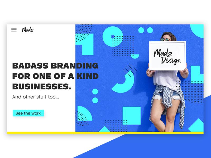 Madz Design Portfolio Website Redesign  portfolio layout website geometric pattern photography style ui landing page portfolio website web layout web design