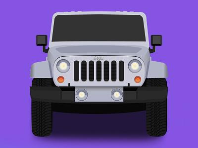 Jeep Wrangler auto suv texture illustration truck car jeep