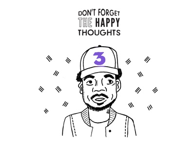 Chance the Rapper Illustration hip hop music 3 happy pen drawing illustration chance the rapper