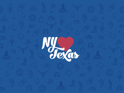 New York Hearts Texas Illustration and Branding logo design branding houston new york city iconography icons illustration hurricane harvey texas new york