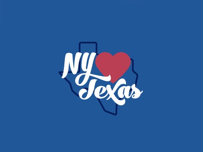 New York Hearts Texas Branding lettering love heart usa states branding logo design logo illustration new york city new york texas