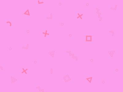 Pink Geometric Pattern colorful pattern 80s shapes geometric purple pink
