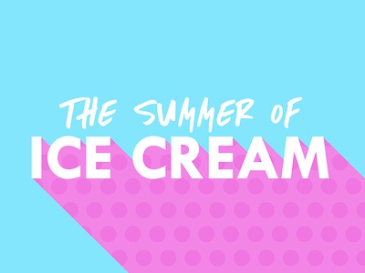 The Summer of Ice Cream Logo pattern polka dot colorful color summer ice cream logo design