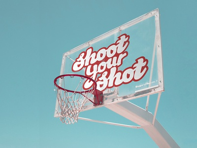 Shoot Your Shot Basketball Type & Lettering