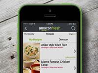 Amazonfresh iOS app redesign
