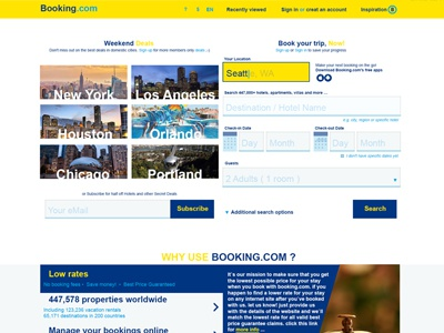 "Redesign Concept ""Booking.com"""