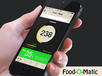 Food-o-matic food ios7 ios photoshop appdesign ux ui