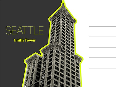 Smith Tower postcard ... ish