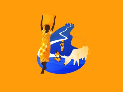 Aqua Africa Illustrations