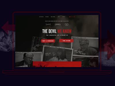 The Devil We Know website ui web digital design