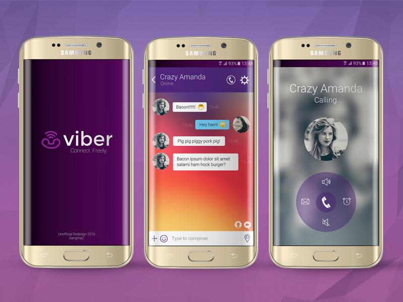 Viber Redesign by Vlad Gmaz | Dribbble | Dribbble