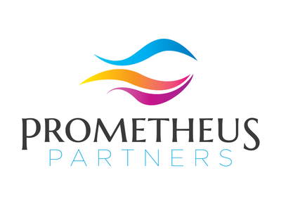 Prometheus Partners startup logo design color schemes typography design logo branding and identity branding