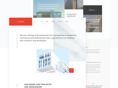 Dispensary Architecture imagery ui mininal building red bold typography navigation color flat architecture dispensary