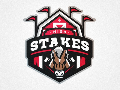 Cutting Room Floor high stakes horse barn sports logo