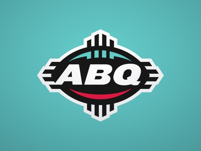 ABQ abq albuquerque badge illustration theuflproject design sports branding football logo sports