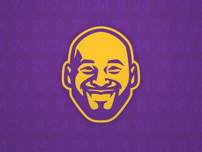 8🏀24 kobe illustration face design sports logo